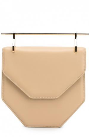 Кожаная сумка Amor Fati M2Malletier. Цвет: бежевый