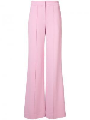 Расклешенные брюки Adam Lippes. Цвет: розовый и фиолетовый