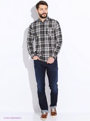 Рубашка Jack&Jones. Цвет: черный, серый, белый