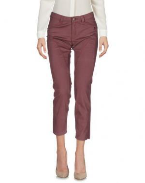 Повседневные брюки 9.2 BY CARLO CHIONNA. Цвет: розовато-лиловый
