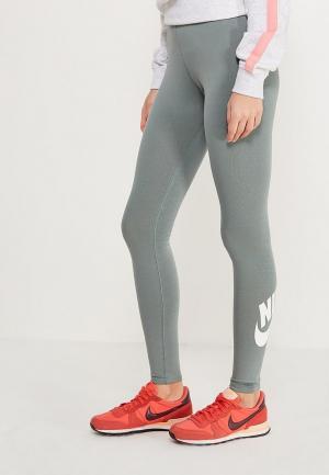 Леггинсы Nike. Цвет: зеленый