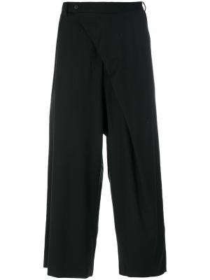 Многослойные брюки D.Gnak. Цвет: чёрный