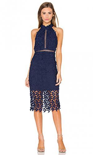 Платье миди gemma Bardot. Цвет: синий