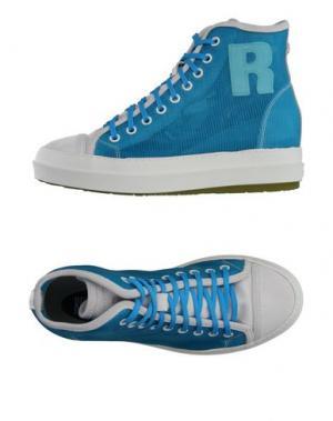 Высокие кеды и кроссовки RUCO LINE. Цвет: лазурный