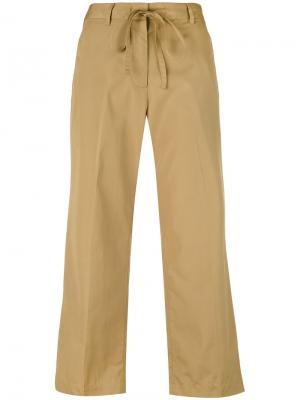Расклешенные укороченные брюки Aspesi. Цвет: телесный