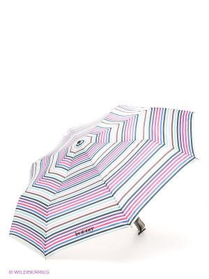 Зонт Isotoner. Цвет: белый, синий, салатовый, коричневый