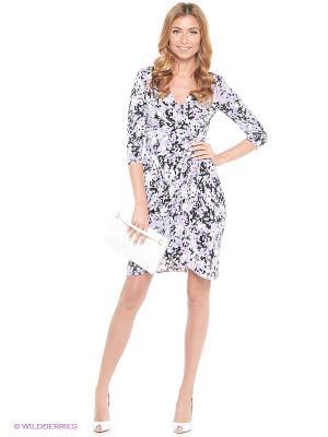 Платье London Times. Цвет: фиолетовый, белый