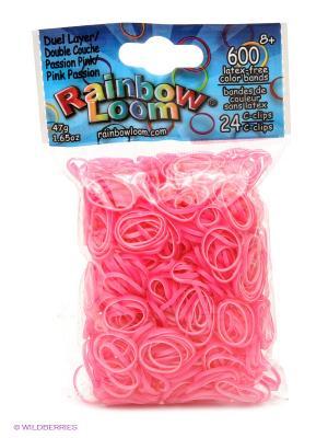 Резинки Пылкий Розовый Перламутр RAINBOWLOOM. Цвет: розовый