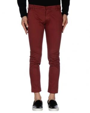 Повседневные брюки MICHAEL COAL. Цвет: красно-коричневый
