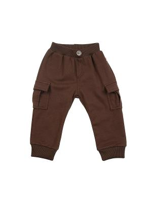 Брюки Mini Maxi. Цвет: темно-коричневый