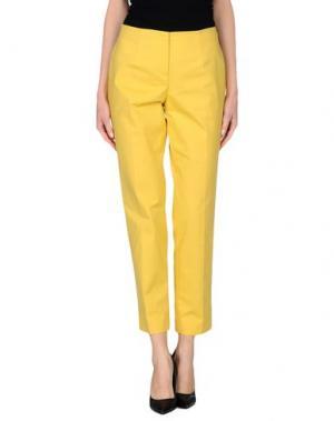 Повседневные брюки LES COPAINS. Цвет: желтый