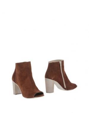 Полусапоги и высокие ботинки FABRIZIO CHINI. Цвет: какао