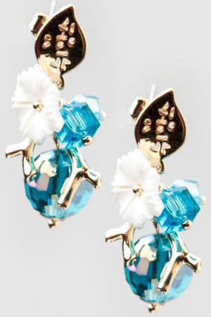 Серьги Beatrici Lux. Цвет: голубой