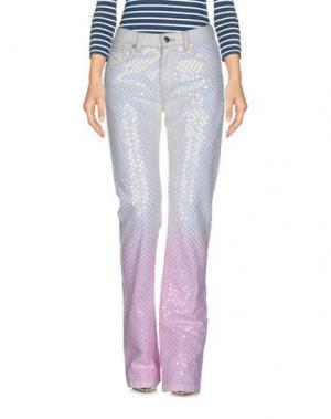 Джинсовые брюки ASHISH. Цвет: белый