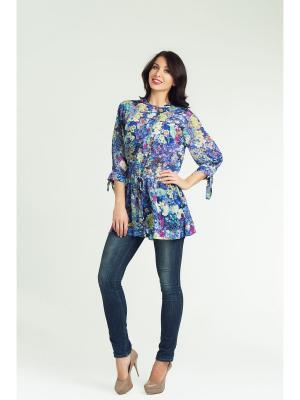 Блуза Maria Velada. Цвет: синий
