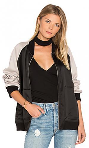 Куртка бомбер MONROW. Цвет: черный