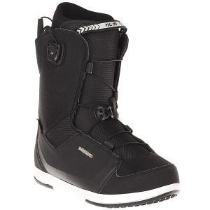 Ботинки для сноуборда  Real Alpha Black Deeluxe. Цвет: черный
