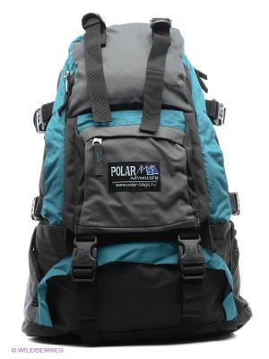 Рюкзак Polar. Цвет: черный, морская волна