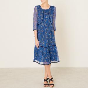 Платье ORA BA&SH. Цвет: синий