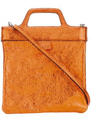 Маленькая сумка-тоут Zilla. Цвет: жёлтый и оранжевый