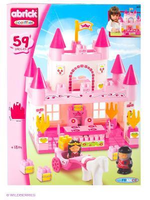 Конструктор замок принцессы, 29,5*29*36см, 59 пр., 1/5 Ecoiffier. Цвет: розовый