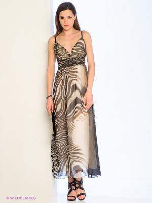 Платье TOM FARR. Цвет: коричневый, бежевый, черный