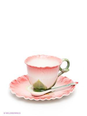 Чайная пара Торения Pavone. Цвет: зеленый, розовый