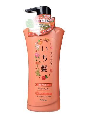 Ichikami Бальзам-ополаскиватель интенсивно увлажняющий для поврежденных волос с маслом абрикоса Kracie. Цвет: белый