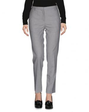 Повседневные брюки ANTONELLI. Цвет: светло-серый