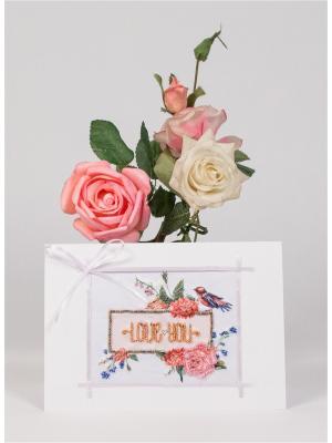 Набор для создания открытки Люблю тебя Матренин Посад. Цвет: белый, розовый