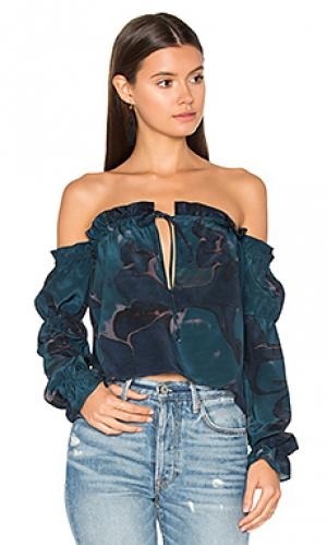 Блузка nate STONE_COLD_FOX. Цвет: синий