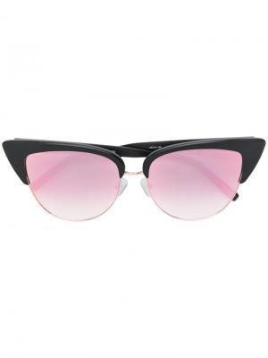 Солнцезащитные очки кошачий глаз Matthew Williamson. Цвет: чёрный