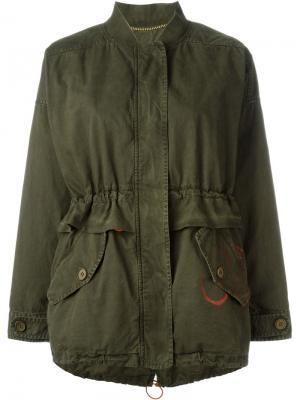 Куртка с принтом Bazar Deluxe. Цвет: зелёный