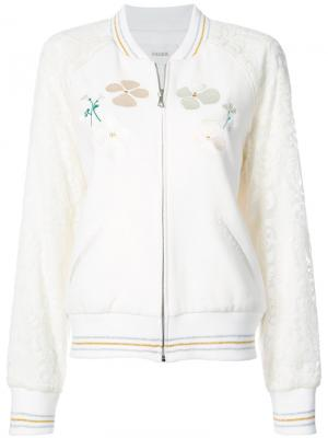 Embroidered quilted bomber jacket Rodarte. Цвет: белый