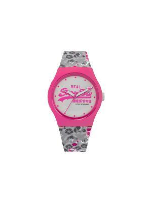 Часы Superdry. Цвет: розовый