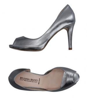 Туфли ELIANA BUCCI. Цвет: свинцово-серый