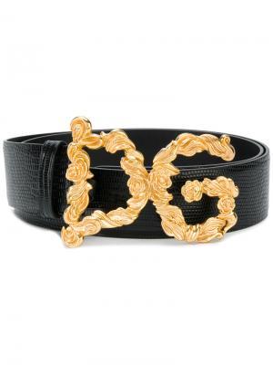 Ремень с пряжкой-логотипом Dolce & Gabbana. Цвет: чёрный