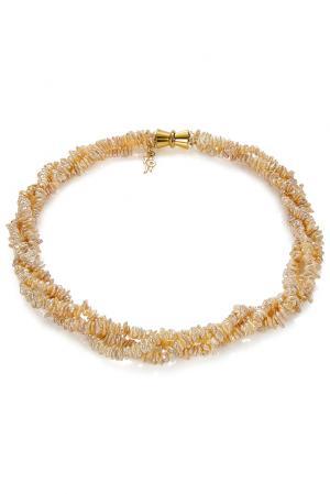 Ожерелье 181672 Nasonpearl. Цвет: оранжевый
