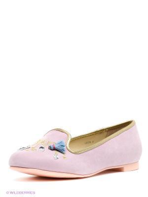 Балетки Le Bunny Bleu. Цвет: розовый