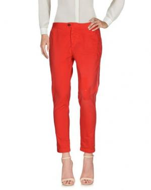 Повседневные брюки MAURIZIO MASSIMINO. Цвет: красный