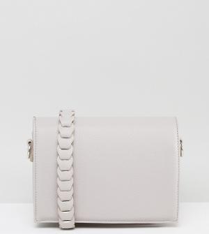 Street Level Серая сумка через плечо с декоративной отделкой. Цвет: серый