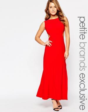 Lipstick Boutique Petite Платье макси с вырезами по бокам. Цвет: красный