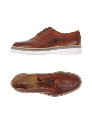 Обувь на шнурках PROJECT ONE. Цвет: коричневый