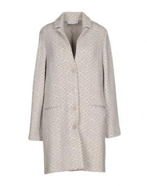 Пальто AMINA RUBINACCI. Цвет: голубиный серый