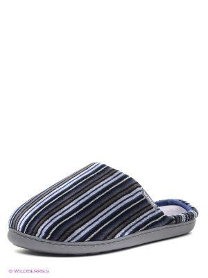 Тапочки Isotoner. Цвет: черный, светло-серый, синий, темно-серый