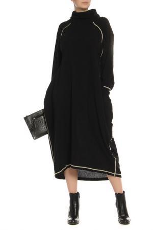 Теплое платье с рукавом реглан Kata Binska. Цвет: черный