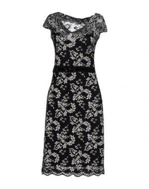 Платье до колена OLVI'S. Цвет: черный