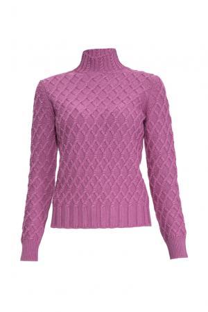 Джемпер из шелка с кашемиром 136702 Sweet Sweaters. Цвет: фиолетовый