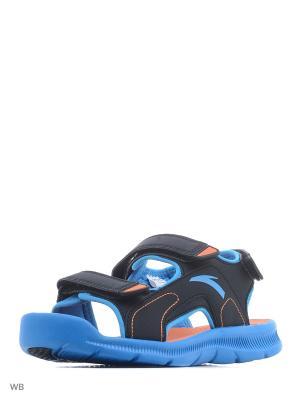 Сандалии ANTA. Цвет: оранжевый, синий, черный