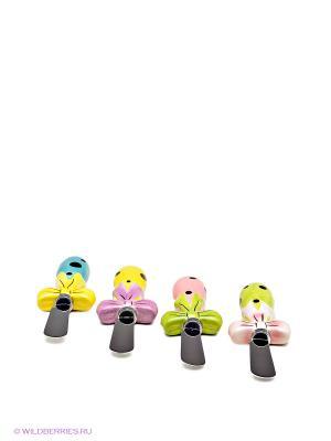 Набор десертных ножей Бантик Pavone. Цвет: желтый, зеленый, розовый, сиреневый